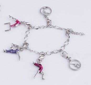 aeb336a1b Gymnastics Charm Bracelet / Anklet -